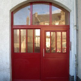 Red arched door